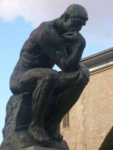 Man, right elbow on left knee is so uncomfortable. Rodin, you done yet?