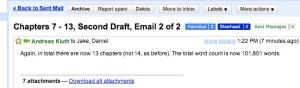 Second Draft Sent